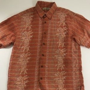 Tommy Bahama Hawaiian Shirt Size Large Silk Camp